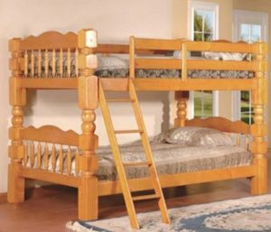 Columbus Day Special- [SPECIAL] Cory Oak Twin over Twin Bunk Bed for Sale in Houston, TX