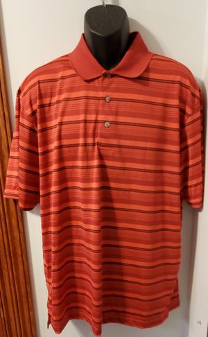 PGA Tour Red Striped Collared Polo Shirt for Sale in Middletown, MD