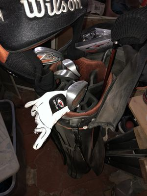 Wilson Golf Clubs with bag and more for Sale in Philadelphia, PA