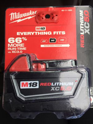 Milwaukee M18 RED LITHIUM XC5.0 battery for Sale in Portland, OR