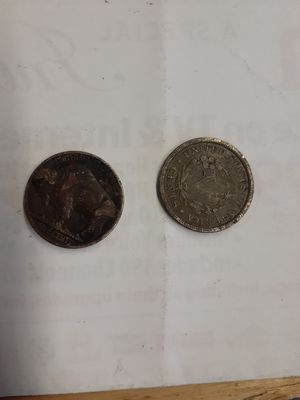 1901 liberty 5 cent peace and a 1928 buffalo head nickel best offer for Sale in Spokane, WA