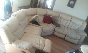 Tan leather couch for Sale in Mountainair, NM