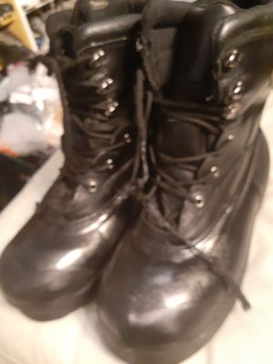 Mens Steel Toe Black Boots Combat Style Size 12 for Sale in Denver, CO