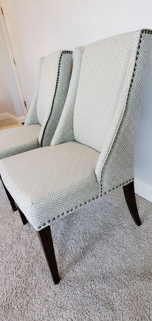 2 Fabric Dining Room Chairs for Sale in Laurel, MD