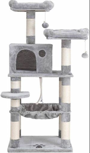 56.3 inches Multi-Level Cat Tree with Sisal-Covered Scratching Posts for Sale in Chino, CA