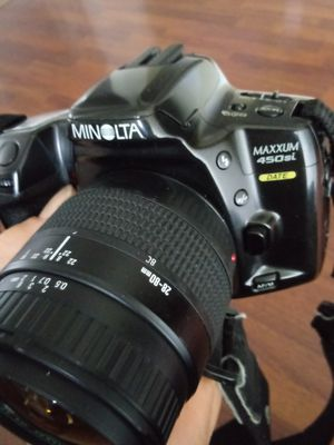 Minolta Maxxum 450 Si Date Film Cam w/28-80mm Lens TESTED for Sale in Chino, CA