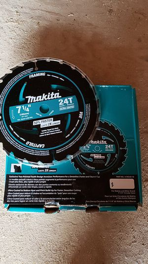 8 Makita skill saw blades for Sale in Little Egg Harbor Township, NJ
