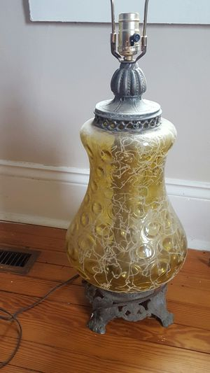 Antique glass lamp for Sale in Vale, NC