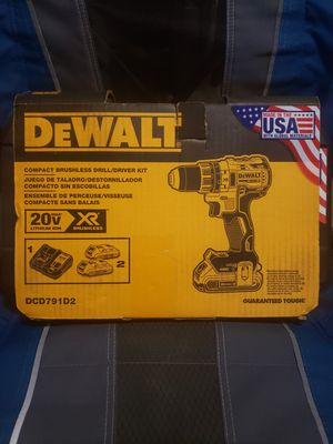 DEWALT XR 20-Volt Max 1/2-in Brushless Cordless Drill (Charger Included and 2-Batteries Included) for Sale in Riverside, CA