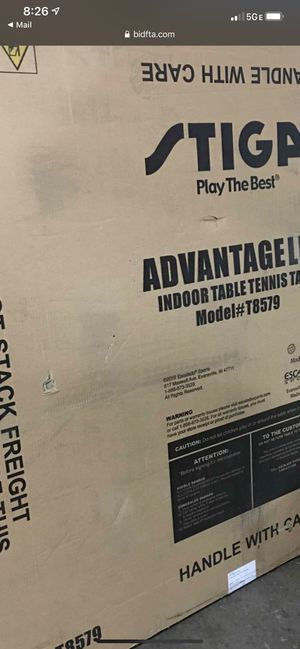 Stiga indoor competition ping pong table- new in box for Sale in Orient, OH