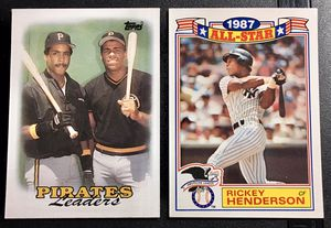 Rare Baseball Cards - Barry Bonds & Rickey Henderson for Sale in Spring, TX