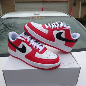 $130 local pick up Size 11.5 only. Nike Air Force 1 Low ID Chicago Bulls Worn Once For 2 Hours Very rare for Sale in Norcross, GA