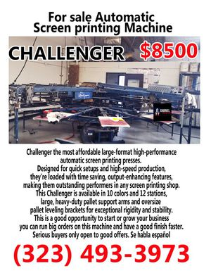 Challenger Automatic Screen Printing for Sale in Bell Gardens, CA