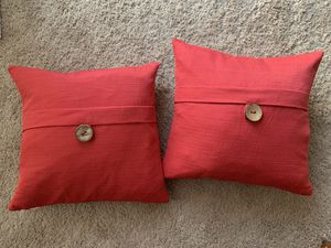 2 Red Throw Pillows for Sale in Pittsburgh, PA