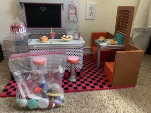 American girl doll diner set and accessories for Sale in Rancho Cordova, CA