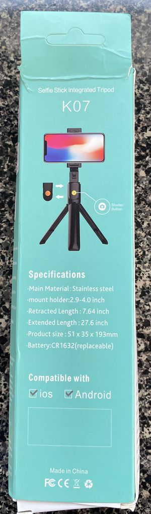 Selfie Stick Integrated Tripod for Sale in Orange, CT