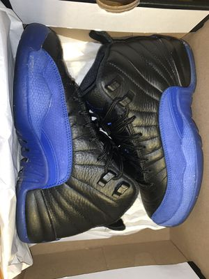 Air Jordan 12 Retro (GS) Black/Game Royal-Black Size 4.5Y for Sale in Chattanooga, TN