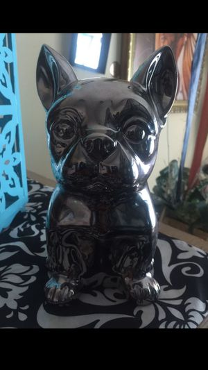 """Chihuahua Silver penny bank 9"""" ((cash only)) for Sale in Stone Mountain, GA"""