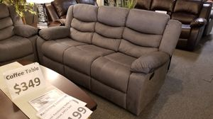"""New 87"""" grey linen manual reclining sofa for Sale in San Diego, CA"""