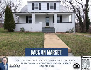 🏠***Back on Market!*** ***PLEASE SHARE***🏠 3 bedrooms - 1 bathrooms - 1,192 SF - $109,950 GREAT MOVE IN READY STARTER HOME!! THE HOME OFFERS 3 BEDR for Sale in Roanoke, VA