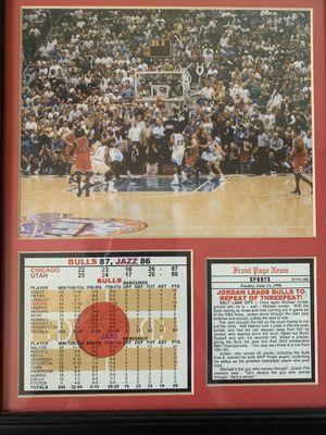 Michael Jordan Last Shot Framed photo for Sale in Phoenix, AZ