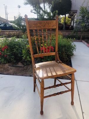 """A classical wooden chair. Dimensions: 44""""inches high 18""""inches Wide 19""""inches Deep Seat height: 20""""inches for Sale in Cypress, CA"""