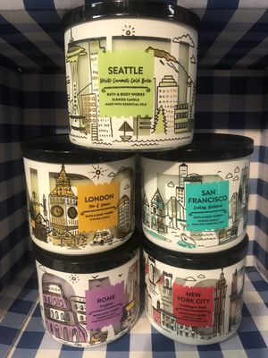 Entire Destination Collection! Bath & Body Works LG 3-Wick Jar Candle - Pickup @ Thompson Park Southport 46237 or ship for Sale in Indianapolis, IN