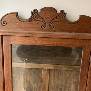 Antique Oak China Cabinet With Shelves for Sale in Bloomfield, CT