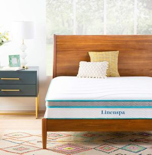 Linenspa 10 Inch Memory Foam and Innerspring Hybrid Mattress - Medium Feel - Queen NEW for Sale in Glendale, AZ