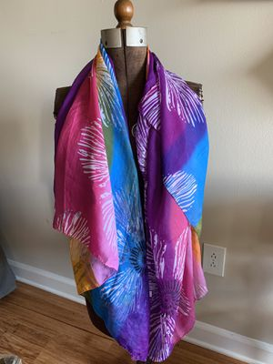 Multi-Colored Beautiful Silky scarf for Sale in Springfield, VA