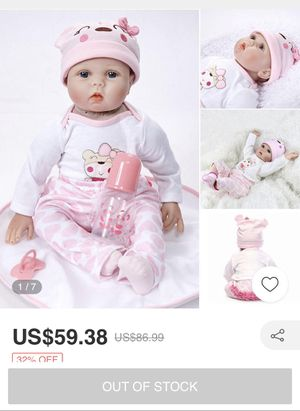 Baby doll with accessories, crib and NWT carrier/car seat for Sale in West Palm Beach, FL