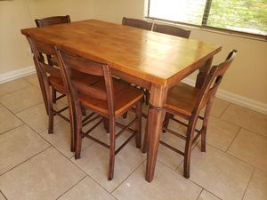 Pub height dining table with 6 chairs for Sale in Scottsdale, AZ