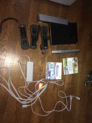 Wii 3 controller. 2 games. All cables. for Sale in Falls Church, VA