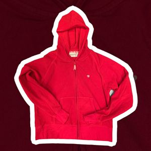 Aeropostale xl red fleece hoodie with pockets and zip up for Sale in Royersford, PA