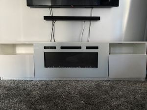 Tv Stand & Fire Place with Heater for Sale in The Bronx, NY