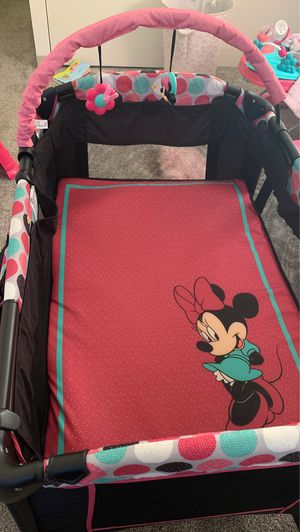 Minnie Mouse pack and play for Sale in Glen Burnie, MD