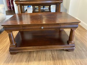 Wooden solid Coffe table and TV stand for Sale in Vienna, VA