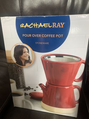 Rachel Ray Pour Over Coffee Maker- Red for Sale in Glendale, AZ