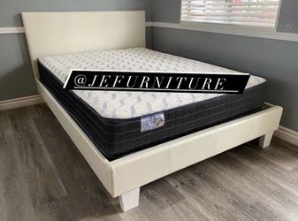Queen Size Bed Frame (Mattress Included) for Sale in Lynwood,  CA