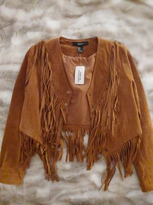 Leather Fringe Jacket for Sale in Colton, CA