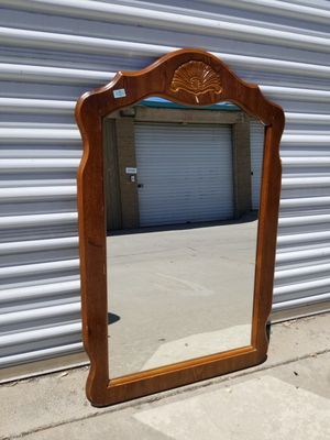 Vintage and solid wood frame mirror for Sale in Pomona, CA