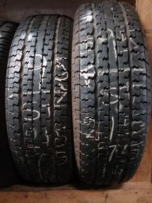 GOOD CONDITION MATCHING PAIR OF USED TIRES SIZE ST 215/75/14 for Sale in New Port Richey, FL