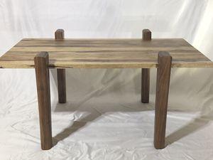 Sleek/modern/sculptural/artistic black limba and walnut coffee table for Sale in Everett, WA