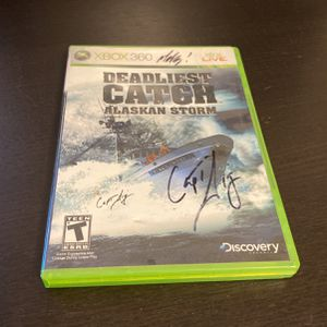 Deadliest Catch XBOX 360 Game Case Signed By Sig Hansen for Sale in Glendale, AZ