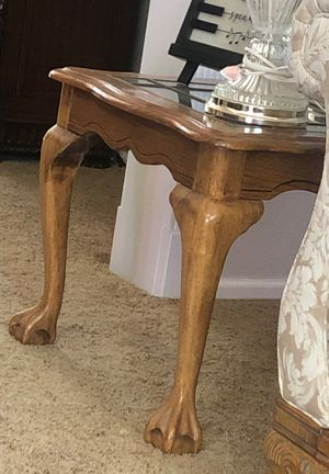 Antique ball and claw side pair of side tables for Sale in Aurora, CO