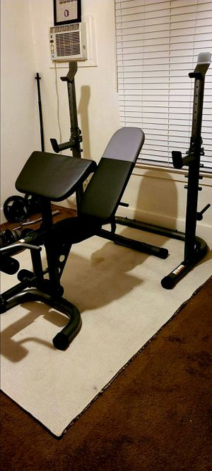 **NEW** Weider XRS 20 Weight Bench + Independent Squat Rack + Preacher Pad (Bicep Curl) + 6-Roll Leg Developer for Sale in Stockton, CA