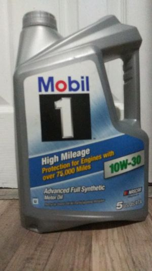 Mobil 1 High mileage 10W-30 synthetic oil for Sale in Hollywood, FL