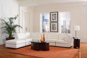 White Leather Modular Sectional Sofa Couch!! Brand New Free Delivery for Sale in Chicago, IL