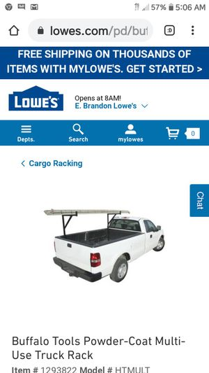 Ladder rack for any size pickup truck no drill in great shape $40, $50 delivered within 15 miles of Valrico for Sale in Valrico, FL