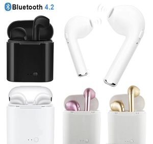 i7 i7S TWS Wireless Earphones Mini Bluetooth Headphones V4.2 DER Stereo Sports earphone For iPhone X 8 Note8 for all smartphone for Sale in Alexandria, VA